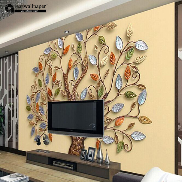 Buy custom any size 3d wall mural for Custom mural wallpaper