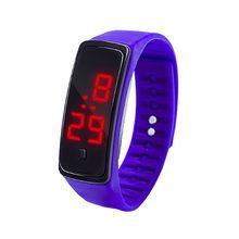 LED デジタルディスプレイブレスレット子供の学生シリカゲルスポーツ腕時計キッズ腕時(China)