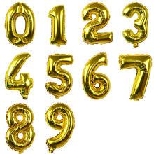 16 ''عدد احباط بالون الذهب الفضة الوردي الأزرق روز الذهب أرقام بالونات الهواء الزفاف عيد ميلاد الديكور الطفل دش حزب إمدادات(China)
