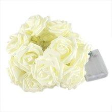 Rose Flower Wedding Party font b Christmas b font Decoration String LED Lights Pink