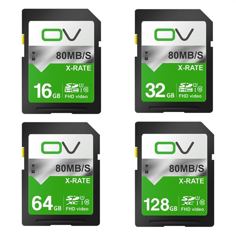 OV Ultra 80MB/s C10 SDHC/ SDXC Original Memory SD Card 128GB 64gb 32gb 16gb For camera(China (Mainland))