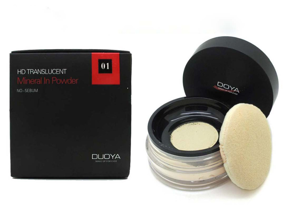 DOYA HD Net Muscle Definition Translucent Loose Powder Brighten Foundation Brighten Natural Matte Finish Makeup Loose face powde(China (Mainland))