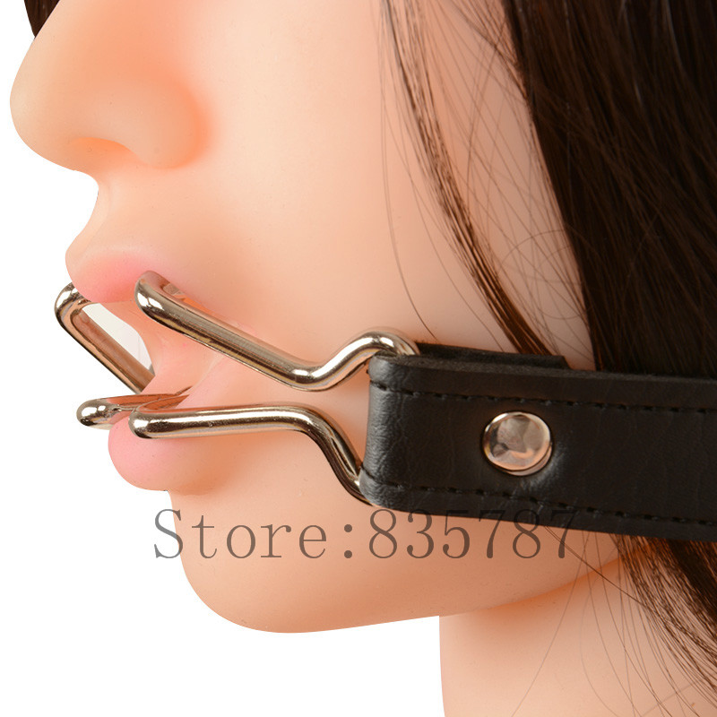 Open Mouth Gag Mouth Plug hook erotic sex toys sex game mouth open fixed LL311
