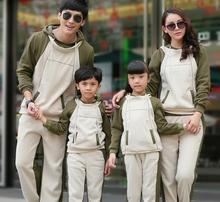 Sweatshirt Hoodies Set Family Clothing Set Boys/Girls/Women/Men's Sweatshirts Sets Autumn and Winter Clothes Set 2 Colors CP55(China (Mainland))