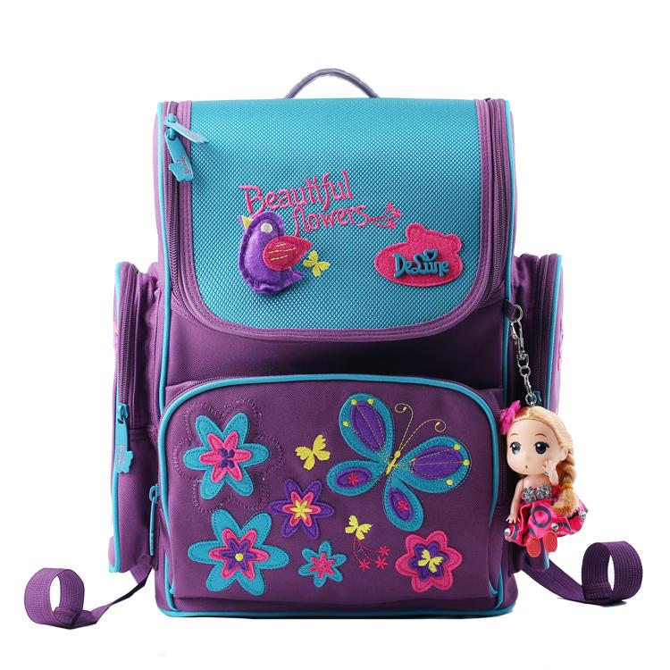 Big Capacity Orthopedic Backpacks Children School Bags Grade 1-5 Book Bag Embroidery Butterfly Bear Schoolbag Mochila Infantil<br><br>Aliexpress