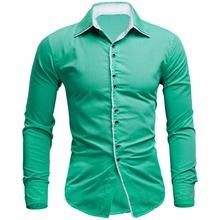 Buy Shirt Men 2017 Brand Clothing Fashion Dress Shirt Long Sleeve Mens Casual Shirts Solid Color Leisure Shirt Mens XXL for $9.20 in AliExpress store