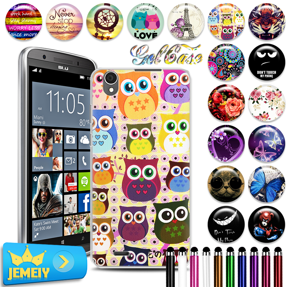 2016 Newest UV Minions Printed Soft Gel Case For Blu Win HD LTE TPU Cover ,phone Cases For Blu Win HD LTE Back Cover Hold bag(China (Mainland))