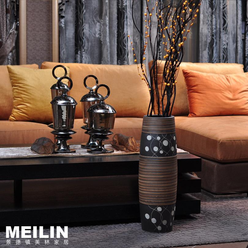 Jingdezhen Ceramic Floor vase Living Room Decoration Simple vase(China (Mainland))