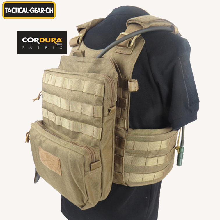 3L MOLLE Tactical Hydration Pack Outdoor Hiking Cycling Hydration Pack Modular Tactical Vest Water Bag Cordura 1000D Nylon CP/CO(China (Mainland))