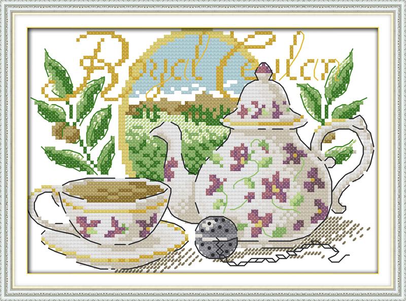 модели схемы вышивки крестом чай с лимоном материал нитей, сплетенных