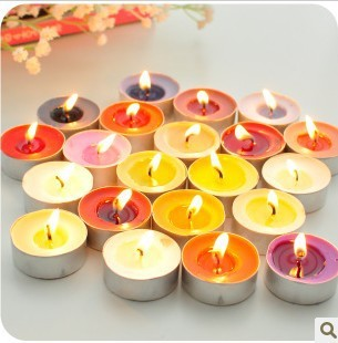 Free shpping,gradient color Environmental protection Smoke-free Scented candles Romantic ideas Home decoration