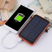 New 100000mAh Waterproof Portable Solar Power Bank Dual USB Solar Charger for cell phone power bank