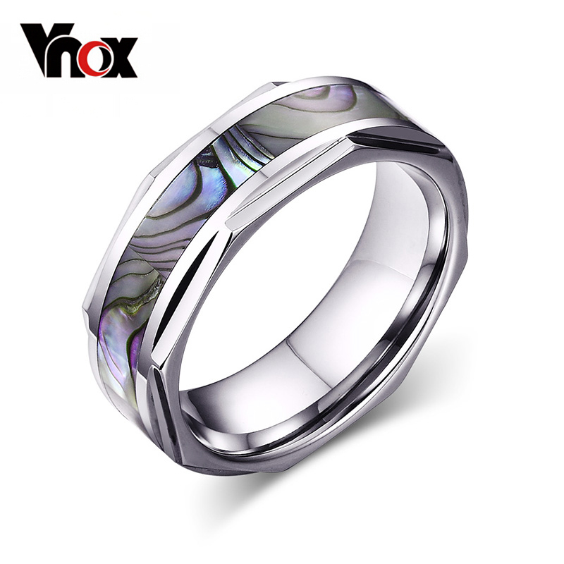 Com Buy Cool Shell Men Wedding Rings 8mm Wide Tungsten Carbide Ring
