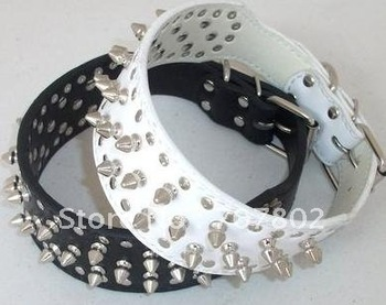Promotions!! Hot Sale Fashion cool dog pet collar/ spike PU leather dog collar with stud /Pet collar/spike pet collar