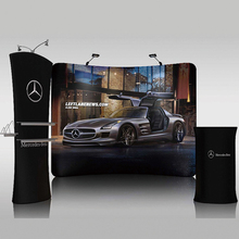 Portable 10ft tension fabric trade show display pop up banners stand booth tradeshow displays Advertising display equipment(China (Mainland))