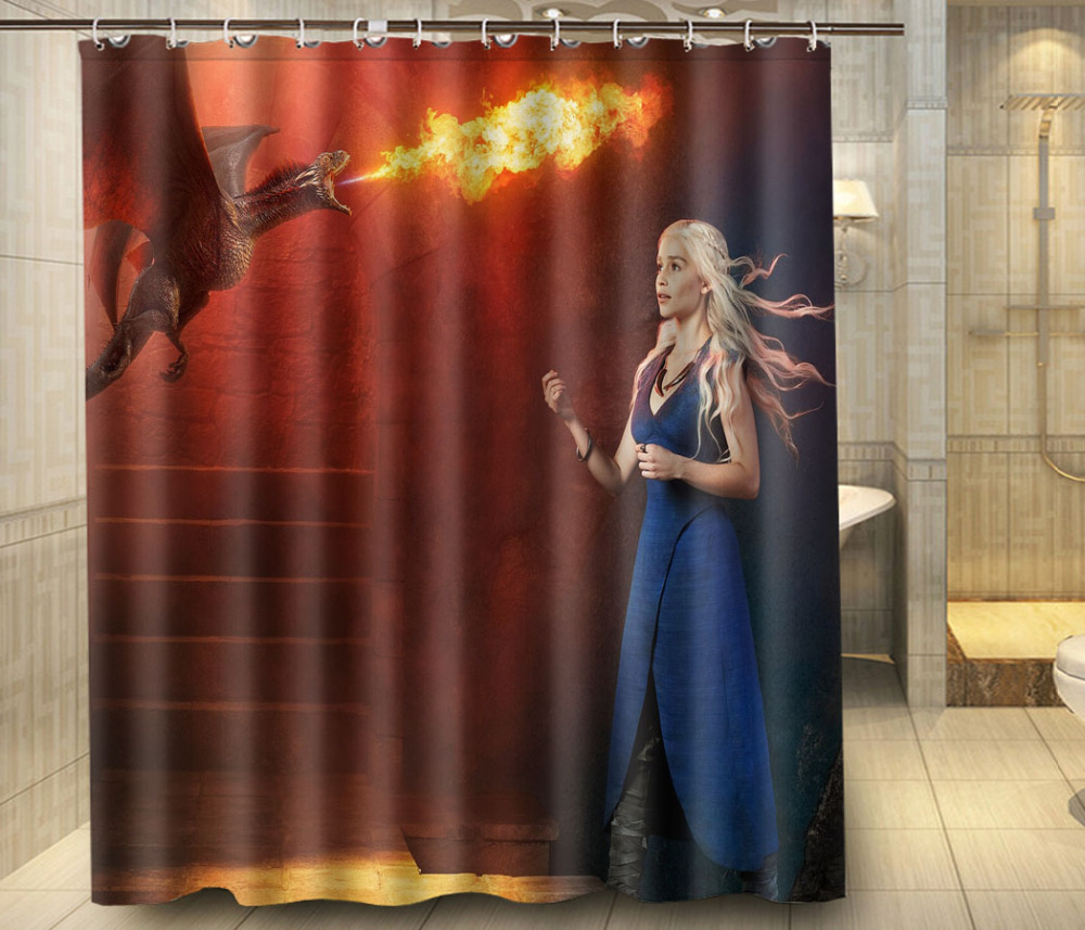 Home Decoration Game Of Thrones Fire Dargon Fabric Modern
