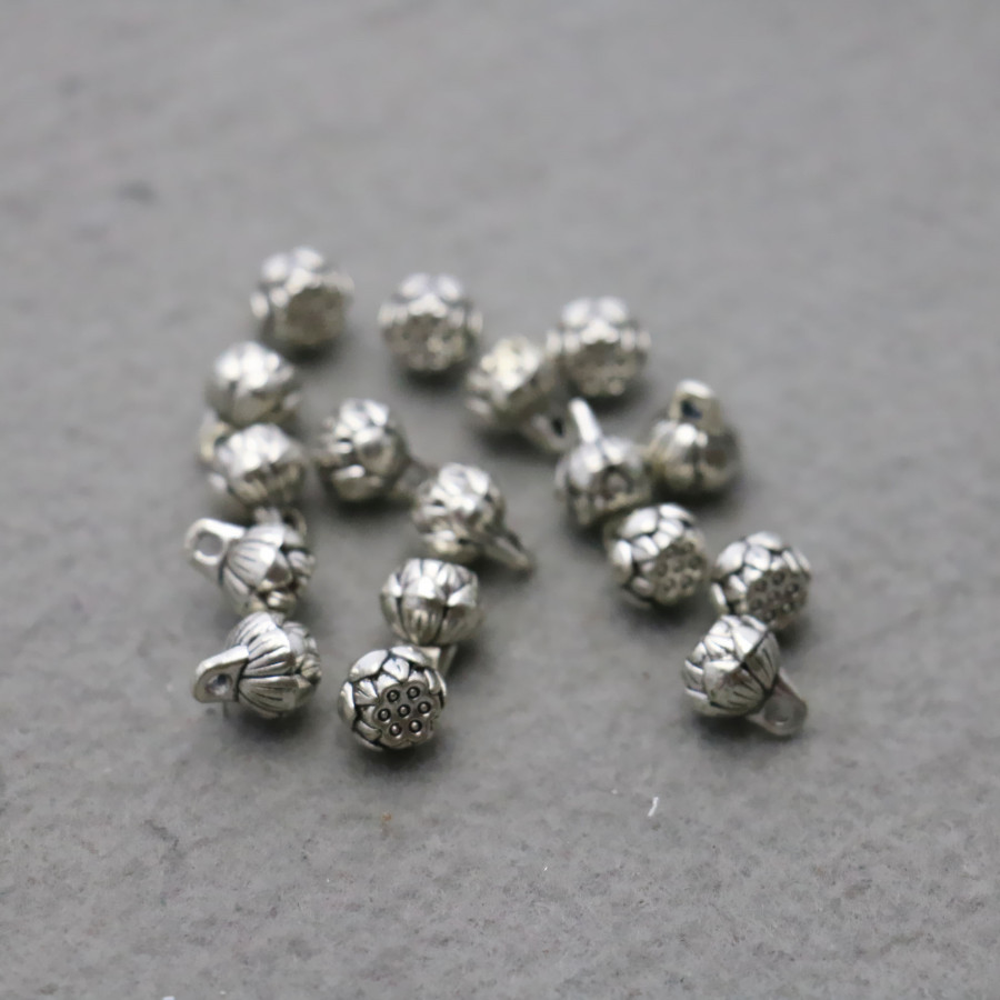10PCS Hot wholesale Hardware Metal Silver-plate Flowers Jewelry Making Design Fittings for Accessory components Findings 8*10mm(China (Mainland))