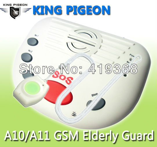 SOS Emergency Alarme System Panic Call Wireless GSM Panic Button Control Alarm Home Security Guard for Elder People A10(China (Mainland))