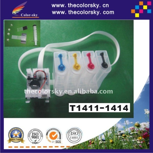 (CISSE1411) CISS kit ink tanks with accessories T1411 for Epson ME Office 560W 620F 960FWD 900WD 32 33 320 330 free shipping DHL