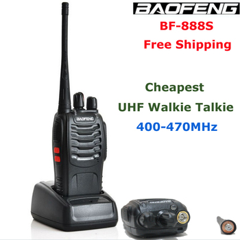 Best selling wo way radio Baofeng BF-888S UHF 400-470Mhz  5Watts 16 Channels  walkie talkie  for Hunting Free shipping