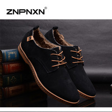 2016 New Men Shoes Casual Genuine Leather Men Flats Shoes black oxford shoes for men boots 7 Colors Big Size 38-48(China (Mainland))