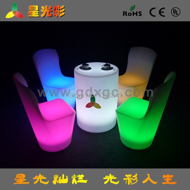 New exquisite hotel furniture LED commercial display tables practical light-emitting plastic furniture cafe tables(China (Mainland))