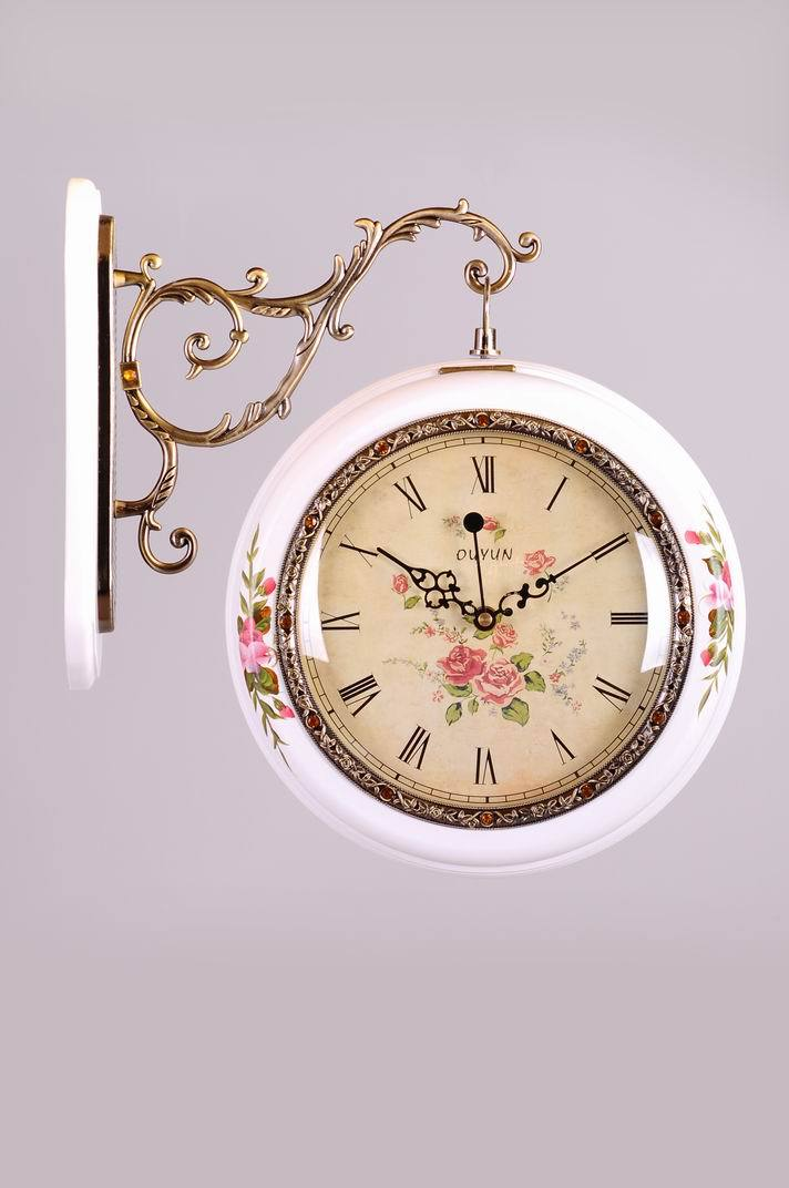 Modern design kitchen wood wall clock unique painting home Modern clocks for kitchen