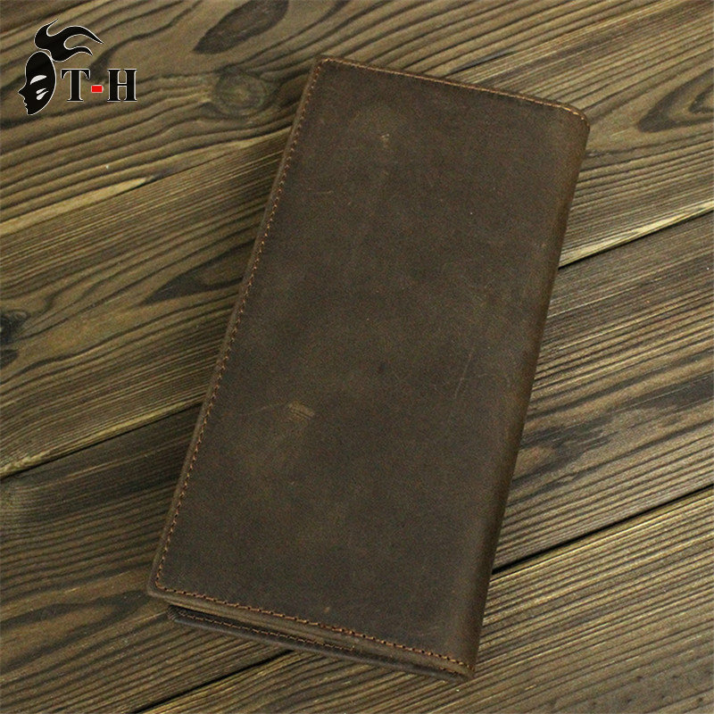 100% Crazy horse Leather Wallet Purse men vintage genuine leather Wallets direct manufacturers clutch bags 8032 J.M.D NEW wallet(China (Mainland))
