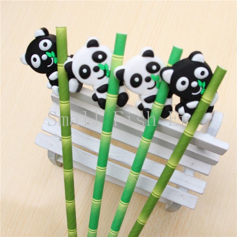 Гаджет  Cute creative bamboo panda Gel Pen caneta 0.38mm Diamond Head black ink pen stationery office school supplies escolar papelaria None Офисные и Школьные принадлежности
