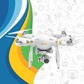 2015 Top Selling DJI Phantom 3 Professional Drone for Sale RC Quadcopter RTF GPS FPV With1080P HD Camera