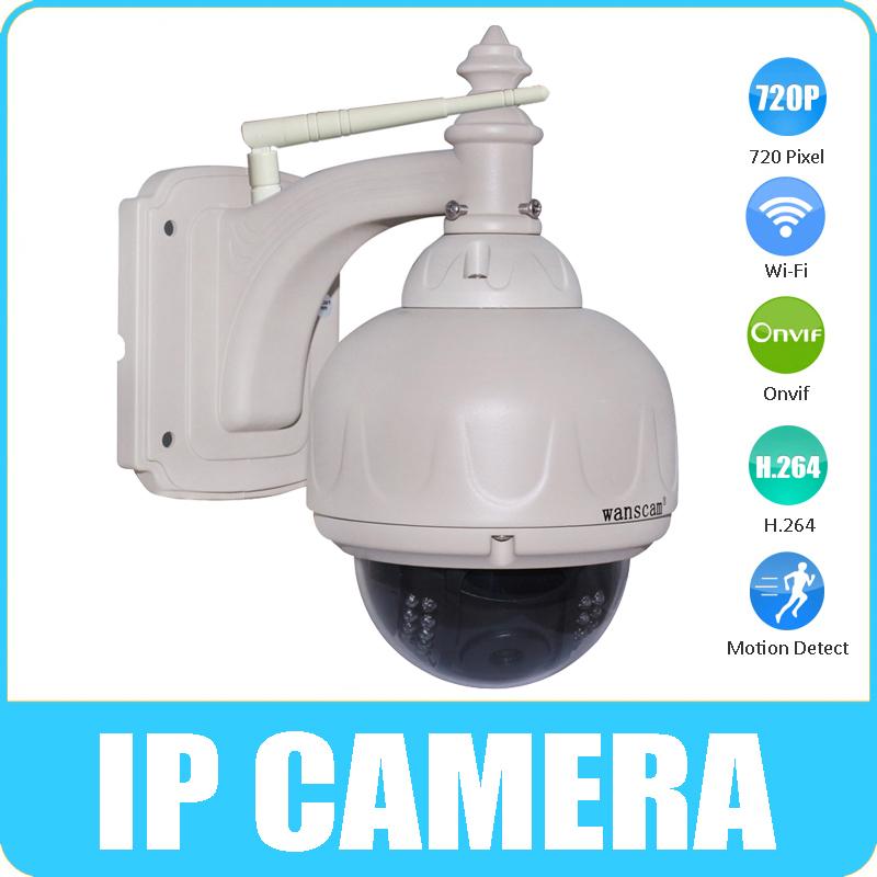 HD 720P Wifi Wireless IP Camera 5x Optical Zoom Pan/Tilt PTZ Outdoor Waterproof Security Dome IP Camera Night Vision P2P(China (Mainland))