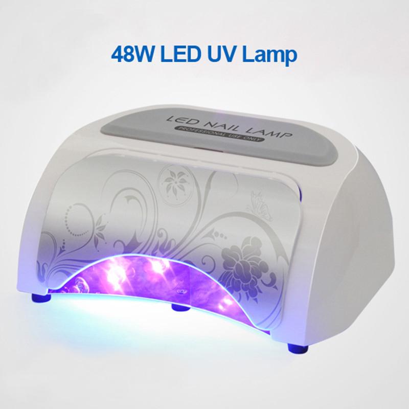 Professional 100-240V 48W LED UV Lamp Nail Dryer Very Fast Curing Nail Tools(China (Mainland))