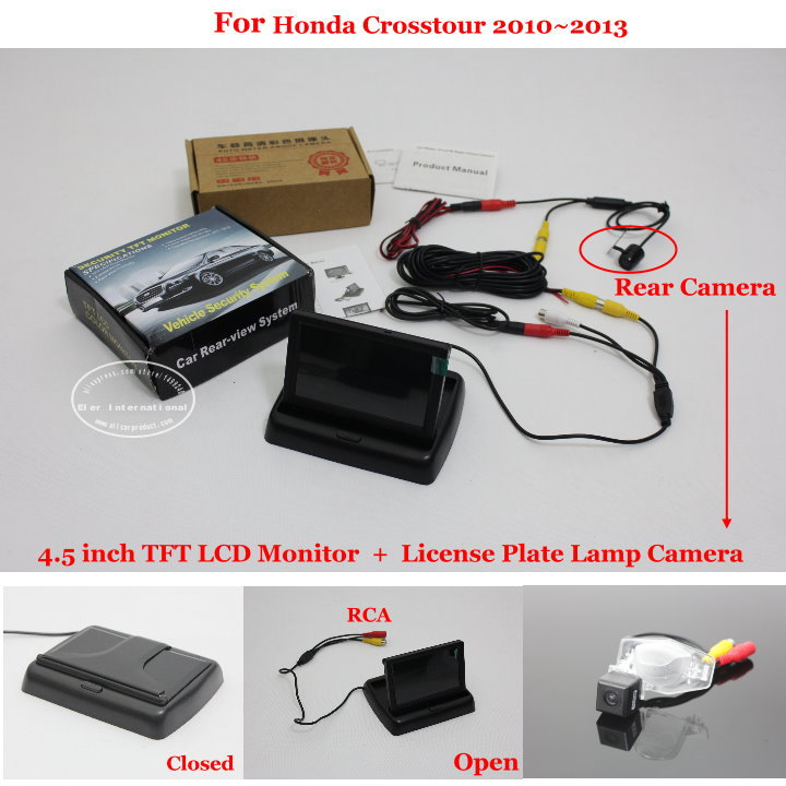 """For Honda Crosstour 2010~2013 - Reverse Rear Camera + 4.3"""" TFT LCD Monitor = 2 in 1 Parking System(China (Mainland))"""