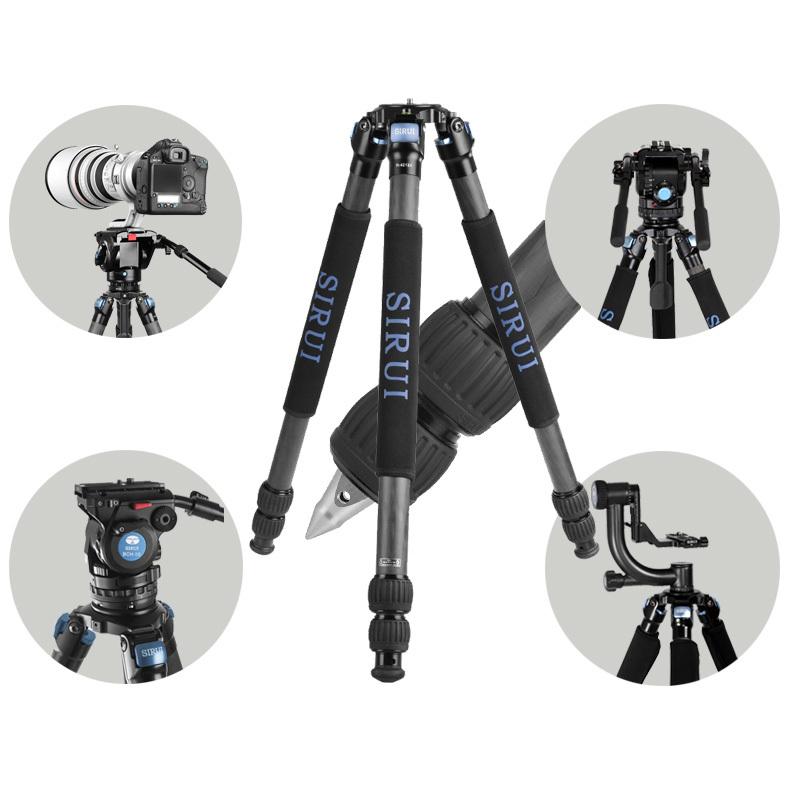 Sirui R-4213X Pro Carbon Fiber Stable Video Tripod For Canon Nikon Sony SLR Camera Digital Camcorder Tripod Bag Max loading 25kg(China (Mainland))