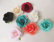 artificial tea rose roses without bottom bracket DIY Shoes Hats decorative flower accessories flowers(China (Mainland))