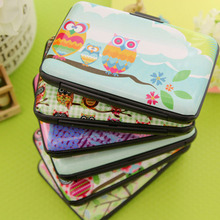 Cute Kawaii Cartoon Plastic Bank Credit Card Bag Lovely Fashion Owl ID Card Holder Box Case for Women Men porte carte PINCH02(China (Mainland))