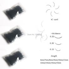 3 пакетов B & C Curl Шелковый Индивидуальный Накладные ресницы 0.15/0.20/0.25 мм и 6-15 мм Ложные Норки Ресницы Расширение Искусственного Cils Ресниц Макияж(China (Mainland))