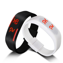 New touch screen LED electronic digital bracelet watch waterproof couple watches Silicone Mini Bracelet Watch relogio masculino