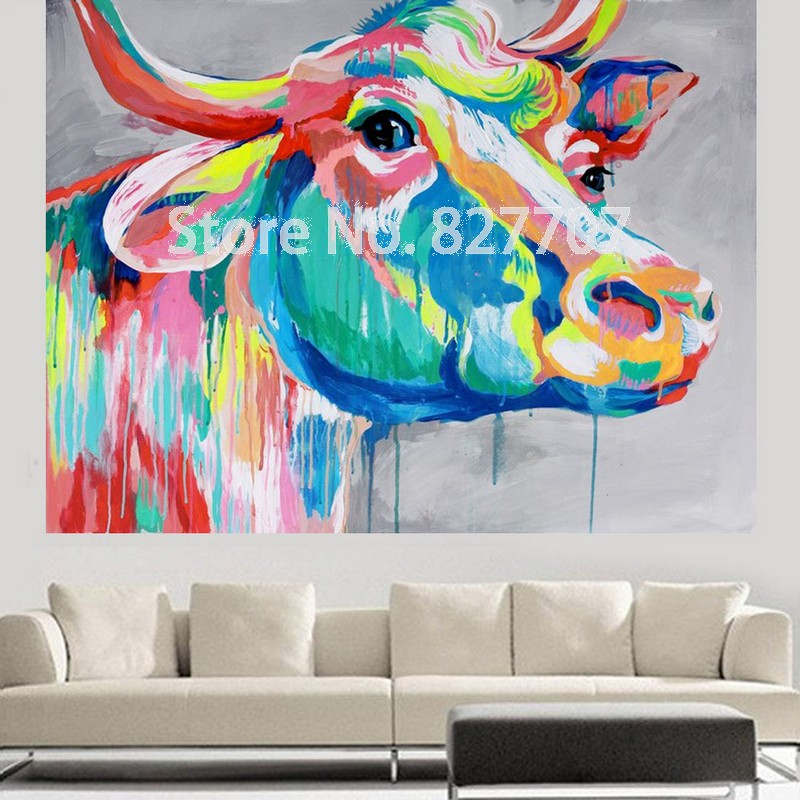 Achetez en Gros peinture à lhuile de vache en Ligne à des