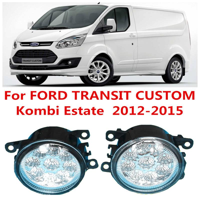 For FORD TRANSIT CUSTOM Kombi Estate  2012-2015 Car LED DRL Daytime Running Lights Refit Blue White Yellow 12V Fog lamps Light