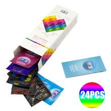 Davidsource Fama Шесть Секс 24 ШТ. удивительные презервативы value high качество презервативов для роговой мужчин женщин взрослая игрушка секса бесплатная доставка