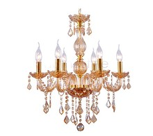 Free US Shipping Modern Clear Crystal Chandelier Lighting Pendant Lamp 6 Lights Fixture Hallway 110V 25(China (Mainland))