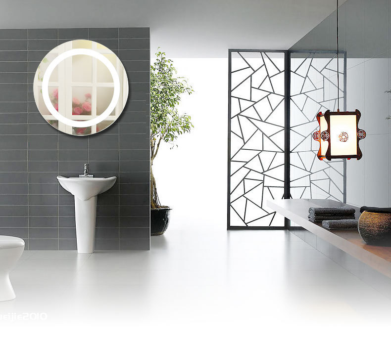 Silver Crystal Wall Lights : silver bathroom led mirror light mirror + led lamp modern wall lamp makeup wall Sconce Dressing ...