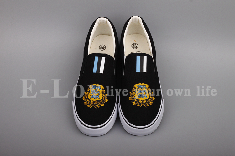4207da3e650 E-LOV Fashion Women Girls Casual Shoes Estonia National Emblem Shoes ...