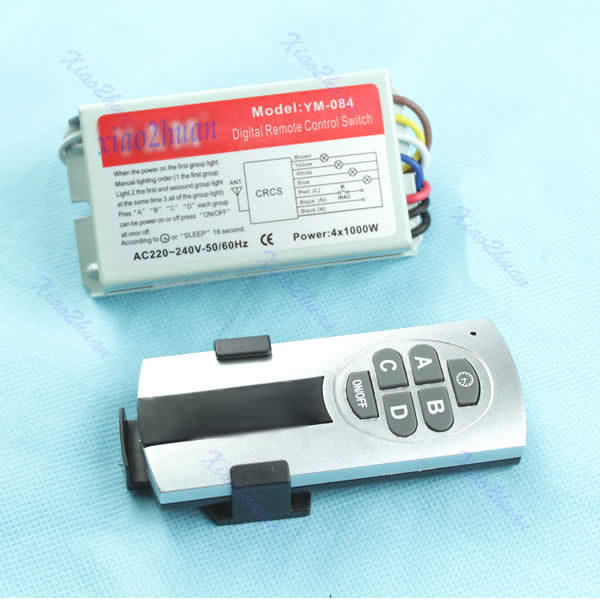 Free Shipping 4 Ways ON/OFF Digital Remote Control Switch Controller For Light Lamp<br><br>Aliexpress