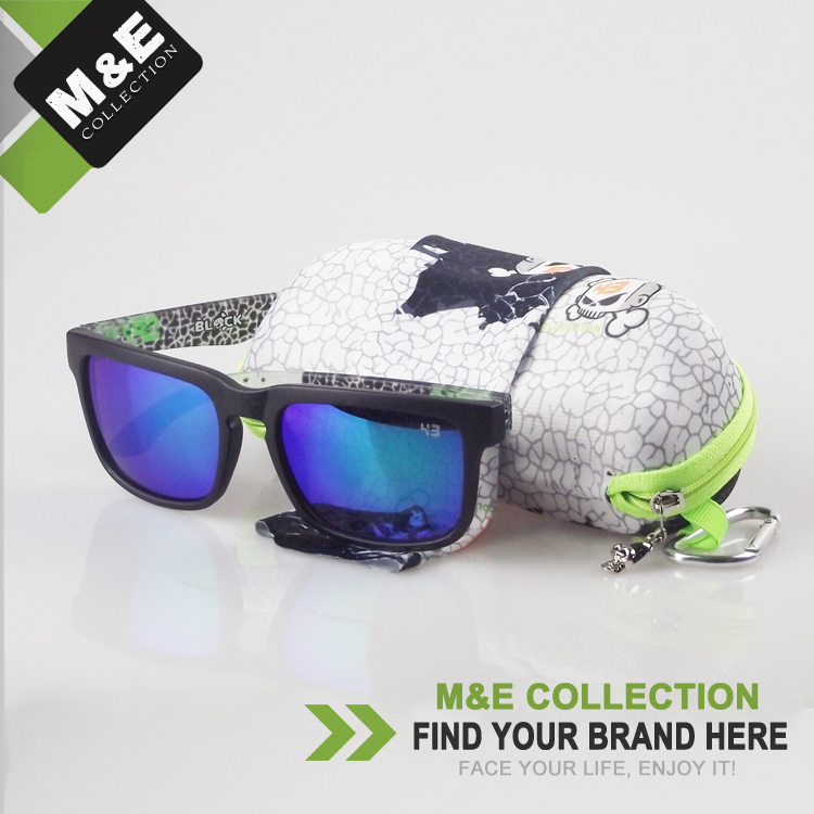 With Box Helm Brand 43 Ken Block Sunglasses Men and Women 21 Colors Shades Mirror Glasses oculos de sol in M&E(China (Mainland))