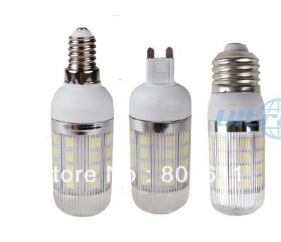 G9/E27/E14 AC 85-265V 8W 5050 SMD 36 LED Cool / Warm White Corn Light Bulb  With Cover