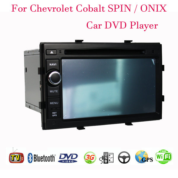 1024*600 Android 4.4.4 Fit Chevrolet Cobalt SPIN ONIX Car DVD Player GPS TV 3G Radio WIFI Bluetooth(China (Mainland))