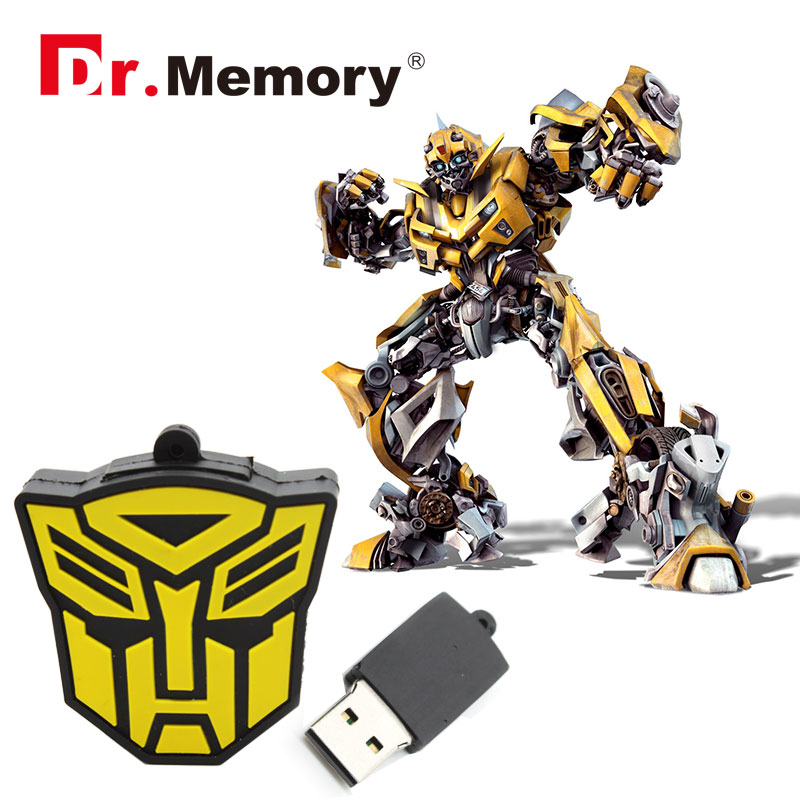 Transformers USB flash drive cartoon pendrive transformer sign USB 4g/8g/16g/32g USB stick boy gift pen drive free shipping(China (Mainland))