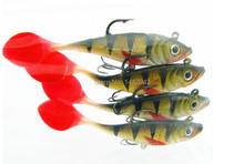 3pcs Fishing lures sea fishing tackle soft bait luminous lead fishing artificial bait jig wobblers rubber silicon lure 11g 10cm